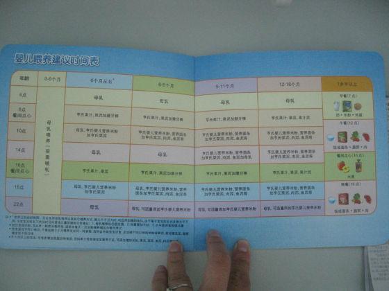 婴儿喂养建议时间表