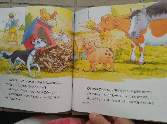 商品使用心得分享 获得《和朋友们一起想办法》之【鸭子家闹水灾】图画书试读,我和孩子 都非常开心! 孩子快五岁了,特别喜欢翻看书本,还会要求我陪他一起看、阅读给他听。我发现小朋友的记忆力一点都不必成人差,每次看过的书,当他重新再看 的时候他还能记忆起书本的内容。 【鸭子家闹水灾】书本的故事内容主要讲述了:在一个农场里养了许多小 动物,有马、奶牛、小羊、小猪莉、鸭子、母鸡,还有猫咪和农场主人弗瑞德 先生的小跟班帕奇。有一天夜里下起了暴风雨,到了第二天早上还是雨一直 下,于是弗瑞德套上雨衣拿上雨伞,叫上小狗帕奇